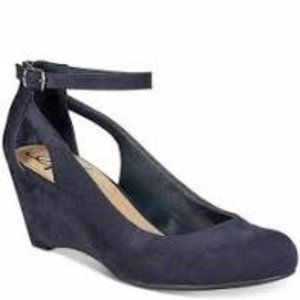 American Rag Miley Navy Chop Out Wedges